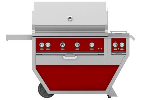 """Hestan 42"""" Matador Deluxe Natural Gas Grill With Double Side Burner - GABR42CX2-NG-RD"""