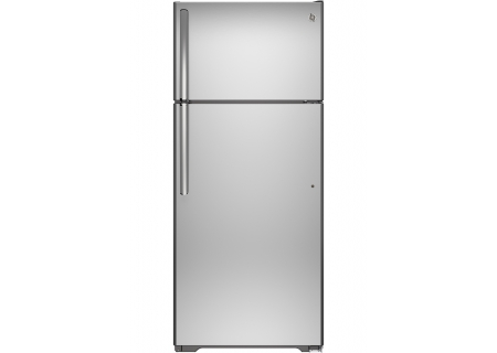 GE Stainless Steel Top Freezer Refrigerator - GAS18PSJSS