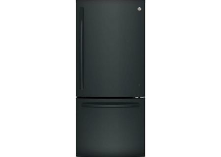 GE Black Bottom Freezer Refrigerator - GBE21DGKBB