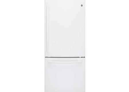 GE White Bottom Freezer Refrigerator - GBE21DGKWW