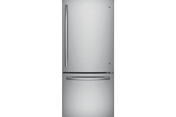 GE Stainless Steel Bottom Freezer Refrigerator - GBE21DSKSS