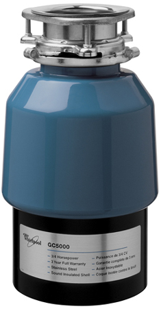 Whirlpool Blue In Sink Garbage Disposal Gc5000xe Abt