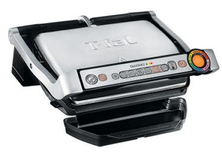 T-Fal OptiGrill + Stainless Steel Indoor Electric Grill - GC712D54