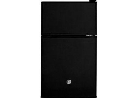 GE Black Double-Door Compact Refrigerator - GDE03GGKBB