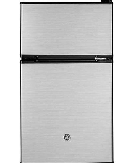 Ge Cleansteel Double Door Compact Refrigerator Gde03glklb