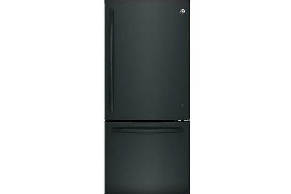 GE Black Bottom Freezer Refrigerator - GDE21EGKBB