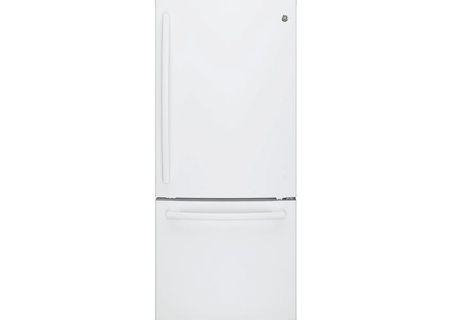 GE White Bottom Freezer Refrigerator - GDE21EGKWW