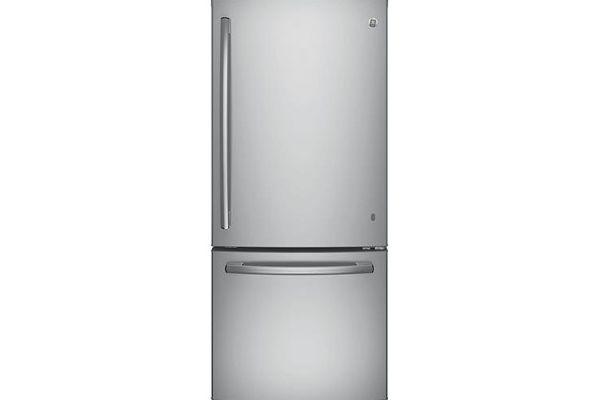 Large image of GE ENERGY STAR 21 Cu. Ft. Stainless Steel Bottom Freezer Refrigerator - GDE21ESKSS