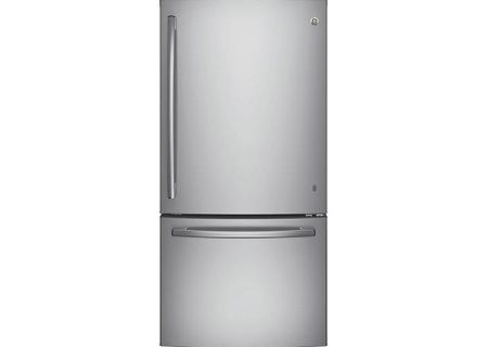 GE Stainless Steel Bottom Freezer Refrigerator - GDE25ESKSS