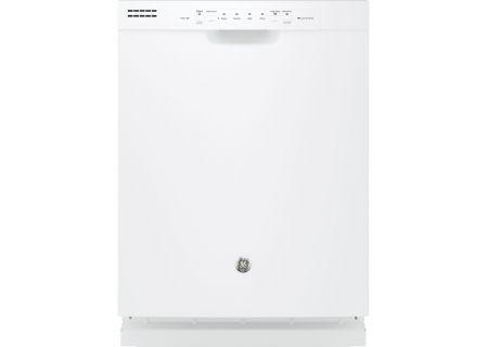 "GE 24"" White Built-In Dishwasher - GDF510PGJWW"