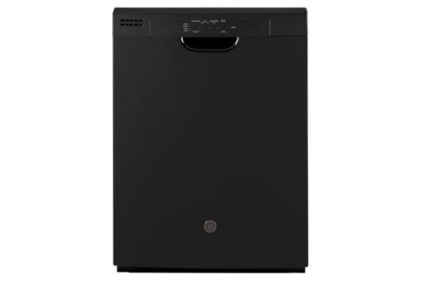 "Large image of GE Black 24"" Built-In Dishwasher - GDF510PGMBB"