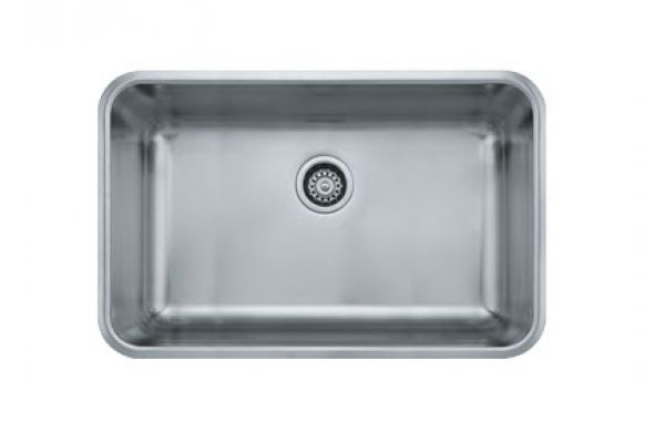 Large image of Franke Grande Undermount Single Bowl Stainless Steel Sink  - GDX110-28