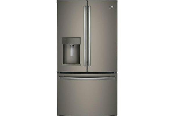 Large image of GE 27.7 Cu. Ft. Slate French-Door Refrigerator With Door In Door - GFD28GMLES