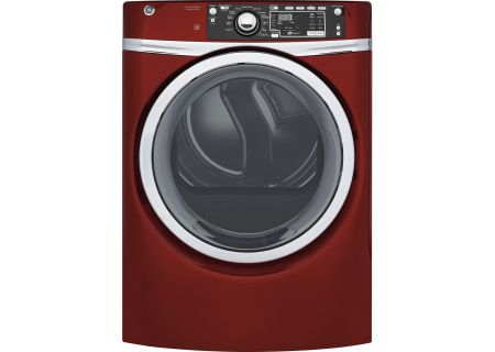 GE Ruby Red Gas Steam Dryer - GFD48GSPKRR