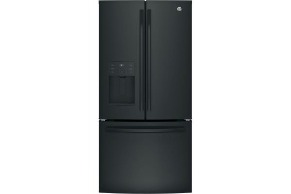 Large image of GE ENERGY STAR 23.6 Cu. Ft. Black French-Door Refrigerator - GFE24JGKBB