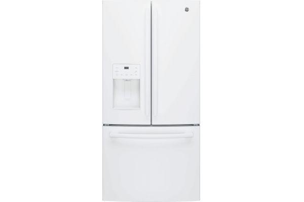 Large image of GE ENERGY STAR 23.6 Cu. Ft. White French-Door Refrigerator - GFE24JGKWW