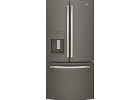 GE 23.8 Cu. Ft. Slate French-Door Bottom Freezer Refrigerator - GFE24JMKES