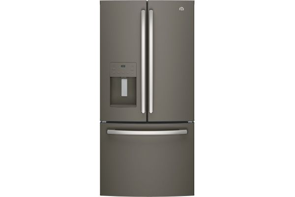 GE 23.8 Cu. Ft. Slate French-Door Bottom Freezer Refrigerator - GFE24JMKES