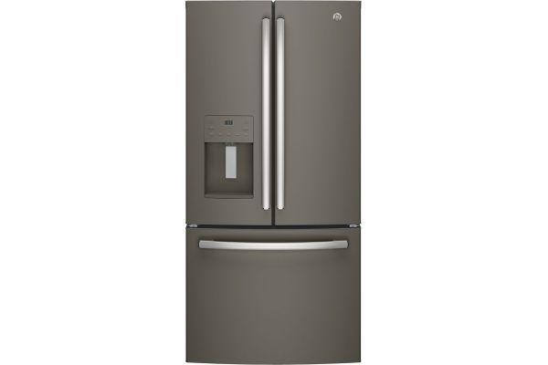 Large image of GE ENERGY STAR 23.6 Cu. Ft. Slate French-Door Refrigerator - GFE24JMKES