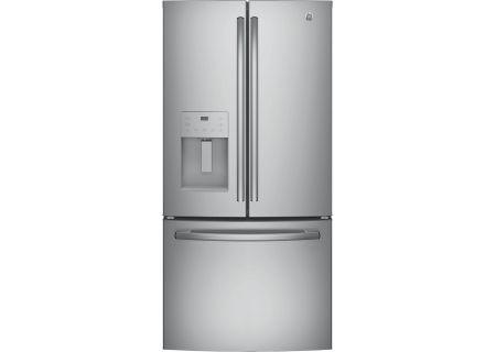 GE 23.8 Cu. Ft. Stainless Steel French-Door Bottom Freezer Refrigerator - GFE24JSKSS