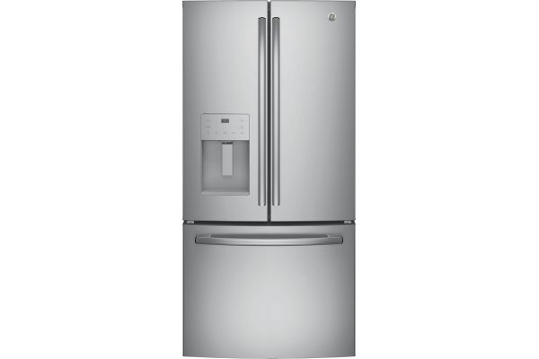Large image of GE ENERGY STAR 23.6 Cu. Ft. Stainless Steel French-Door Refrigerator - GFE24JSKSS