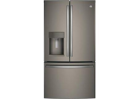 GE Slate French-Door Bottom Freezer Refrigerator - GFE26GMKES