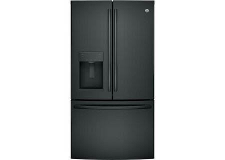 GE 27.8 Cu. Ft. Black French-Door Bottom Freezer Refrigerator - GFE28GGKBB