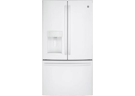 GE 27.8 Cu. Ft. White French-Door Bottom Freezer Refrigerator - GFE28GGKWW