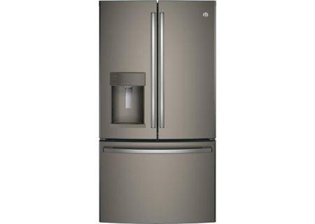 GE 27.8 Cu. Ft. Slate French-Door Bottom Freezer Refrigerator - GFE28GMKES