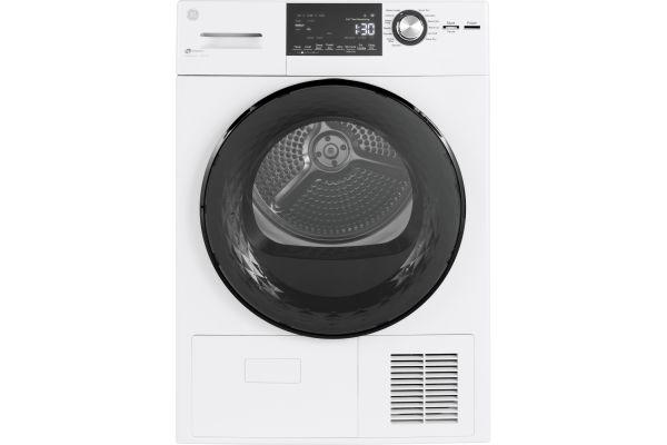 Large image of GE White Ventless Condenser Electric Dryer - GFT14ESSMWW