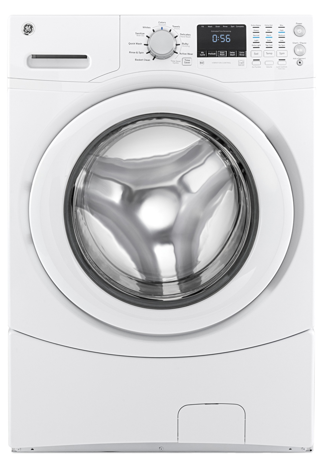 Ge 4 3 Cu Ft White Front Loading Washer Gfwn1600jww