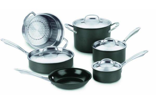 Large image of Cuisinart 10-Piece GreenGourmet Non-Stick  Cookware Set - GG-10