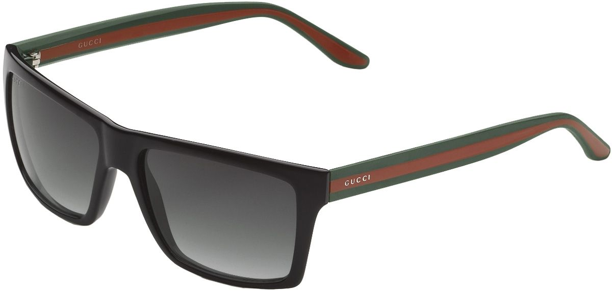 Glasses Frames Big W : Gucci Mens Black Rectangle Sunglasses - 298594 J1691 1015