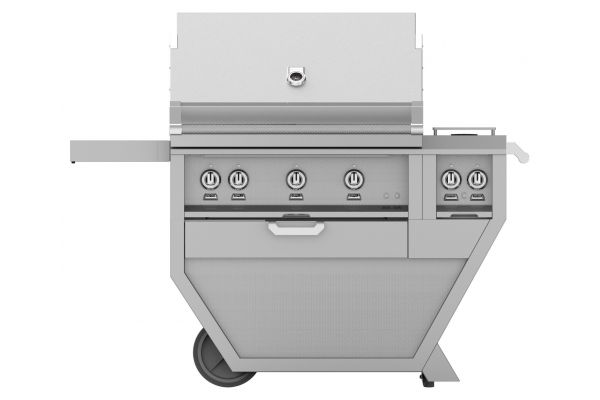 "Hestan 36"" Stainless Steel Deluxe Natural Gas Grill With Double Side Burner  - GMBR36CX2-NG"