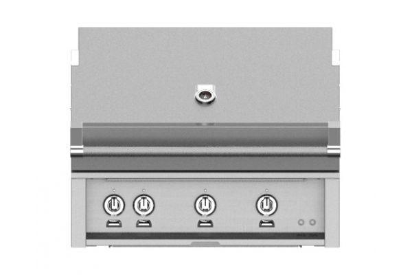"Hestan 36"" Stainless Steel Built-In Trellis And Sear Burner Rotisserie Natural Gas Grill - GMBR36-NG"