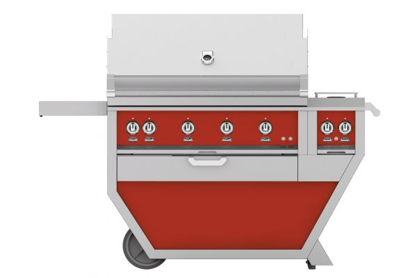 "Hestan 42"" Matador Deluxe Trellis And Sear With Double Side Burner Natural Gas Grill - GMBR42CX2-NG-RD"