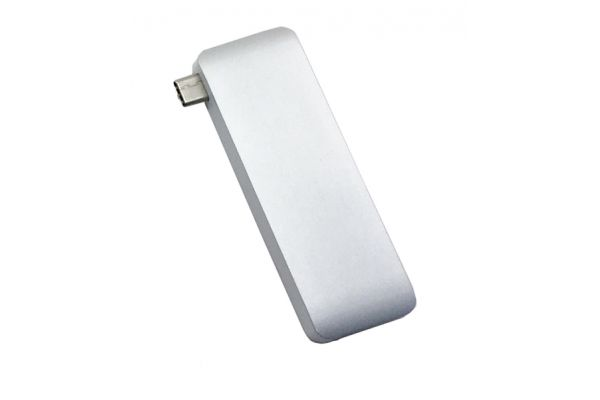 Large image of HyperDrive Silver USB Type-C 5-In-1 Hub With Pass Through Charging - GN21BSILVER