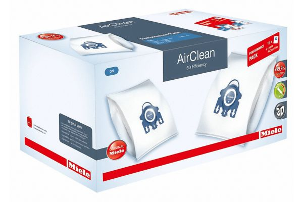 Large image of Miele AirClean 3D Efficiency FilterBags Type GN And HA30 HEPA Filter Performance Pack - 10512510