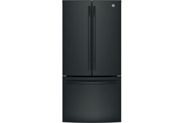 Large image of GE ENERGY STAR 24.7 Cu. Ft. Black French-Door Refrigerator - GNE25JGKBB