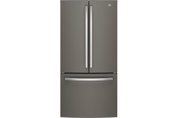 Large image of GE ENERGY STAR 24.7 Cu. Ft. Slate French-Door Refrigerator - GNE25JMKES
