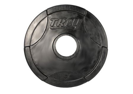 Troy Barbell 5lb Rubber Encased Olympic Grip Plate  - GO005R