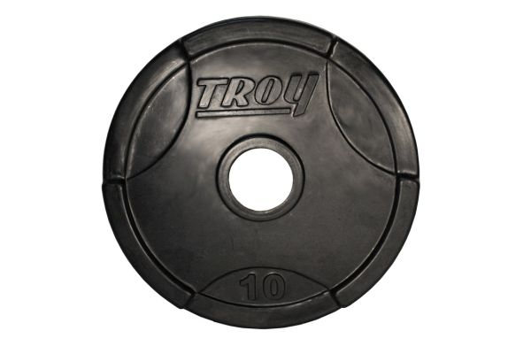 Troy Barbell 10lb Rubber Encased Olympic Grip Plate  - GO010R