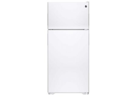 GE White 15.5 Cu. Ft. Recessed Handle Top-Freezer Refrigerator - GPE16DTHWW