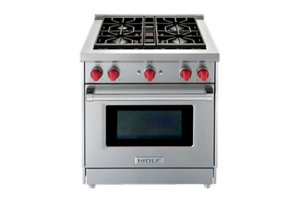 Wolf 30 Stainless Steel Gas Range