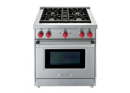Wolf 30 Stainless Steel Liquid Propane Gas Range Gr304 Lp
