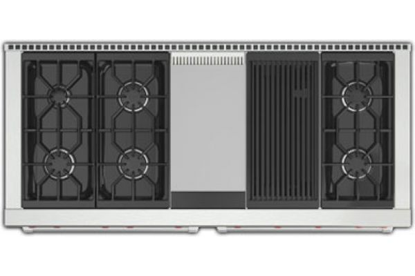 "Wolf 60"" Stainless Steel Gas Range With Charbroiler And Griddle - GR606CG"