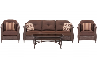 Hanover - GRAMERCY4PC-BRN - Patio Furniture