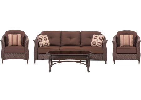 Hanover - GRAMERCY4PC-BRN - Patio Seating Sets