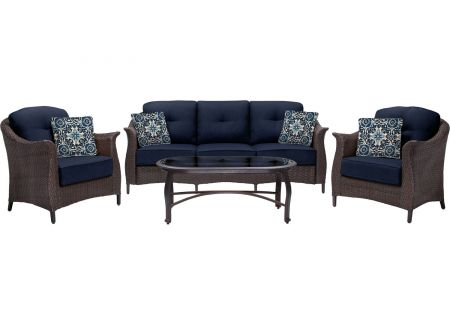 Hanover - GRAMERCY4PC-NVY - Patio Seating Sets
