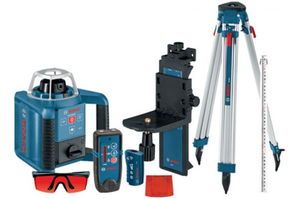 Bosch Tools Self-Leveling Rotary Laser with Layout Beam Complete Kit - GRL300HVCK